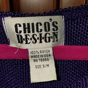 CHICO'S Design Royal Purple Sleeveless Sweater S/M